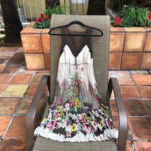 BCBG • Silk Floral Mesh Dress